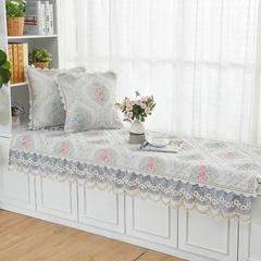 共鸣沙发垫 慕羽系列飘窗垫 可定制 45*45cm抱枕套 慕羽灰
