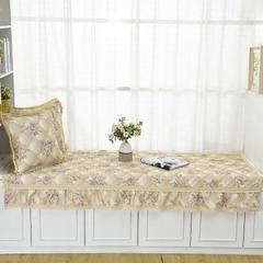 共鸣沙发垫 亚麻印花花语系列飘窗垫 可定制 70*160cm 花语绿