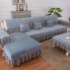 共鸣沙发垫 冬季爆款水晶绒沙发垫 45*45cm椅垫 水晶绒蓝灰