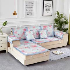 共鸣沙发垫 冰丝沙发垫 可定制 50*50cm 小苹果蓝