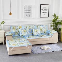 共鸣沙发垫 冰丝沙发垫 可定制 50*50cm 花舞