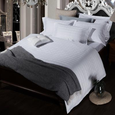 艺麦酒店家居    60提花系列四件套提花四件套酒店四件套宾馆四件套 标准1.5-1.8m 四线格