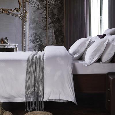 艺麦酒店家居    60提花系列四件套提花四件套酒店四件套宾馆四件套 标准1.5-1.8m 羽毛之翼