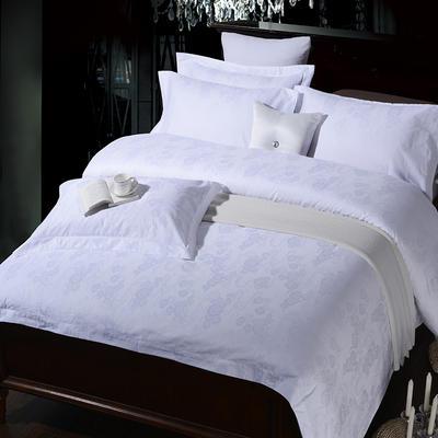 艺麦酒店家居    60提花系列四件套提花四件套酒店四件套宾馆四件套 标准1.5-1.8m 祥云