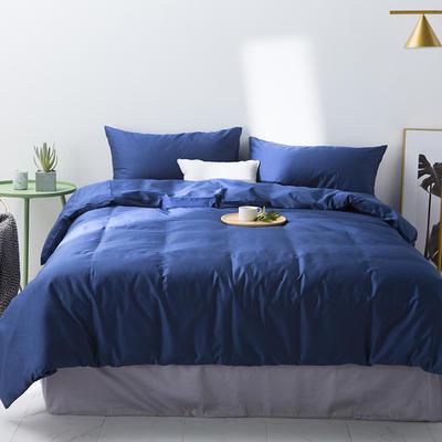 2019新款60S纯色四件套 1.5m-1.8m 纯色蓝