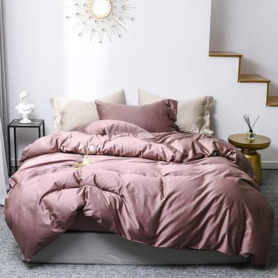 2019新款60s贡缎纯色全棉四件套 1.5m床单款 降紫