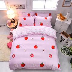 芦荟棉小清新四件套 1.5被套1.5x2.0 草莓派