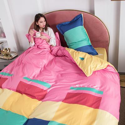 2020新款芦荟棉四件套 1.0m床单款三件套 时光彩虹