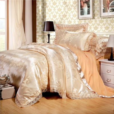 2019款全棉13372天丝莫代尔提花四件套 床单款四件套(1.5m-18m床) 艾格波特 驼色