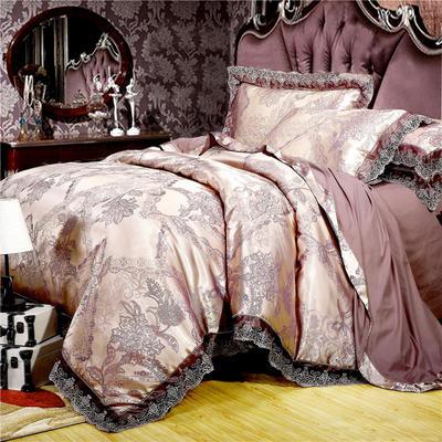 2019款全棉13372天丝莫代尔提花四件套 床单款四件套(1.5m-18m床) 古色庄园