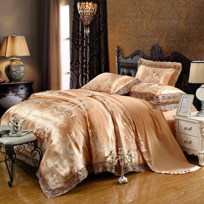 2019款全棉13372天丝莫代尔提花四件套 床单款四件套(1.5m-18m床) 金色年华