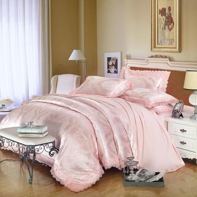 2019款全棉13372天丝莫代尔提花四件套 床单款四件套(1.5m-18m床) 爱茉莉-黄玉