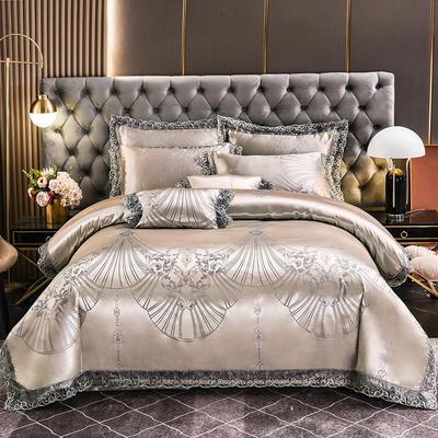 2021新款布拉诺蕾丝提花莫代尔磨毛系列四件套 1.2m床单款三件套 爱尚-富贵银