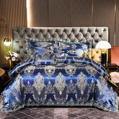 2021新款布拉诺蕾丝提花莫代尔磨毛系列四件套 1.2m床单款三件套 拉萨金爵-奢华兰