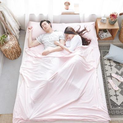 2018新款针织睡袋 针织睡袋 蜜粉(80*210cm)