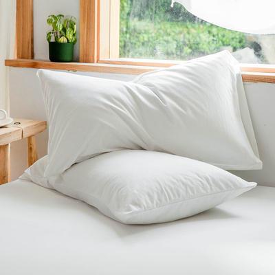 2019新款针织纯色单品枕套 48cmX74cm/单只 白色