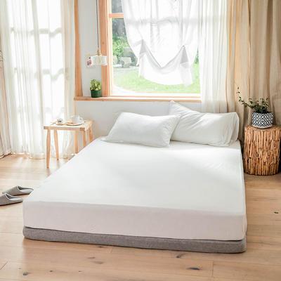 2019新款针织纯色单品床笠 单床笠:120cmx200cm 白色