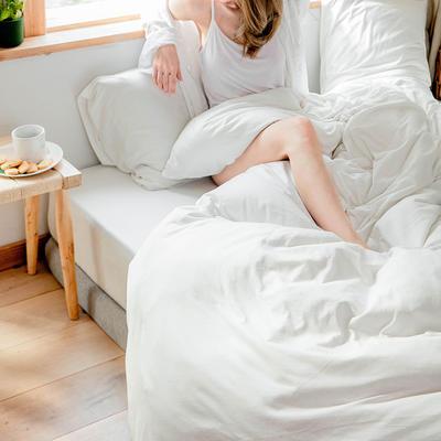 2019新款针织纯色单品床单 单床单:180cmx230cm 白色