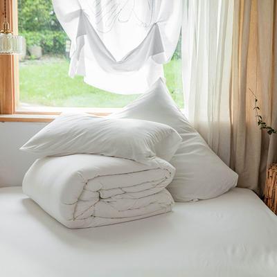 2019新款针织纯色单品被套 单被套:150x200cm 白色