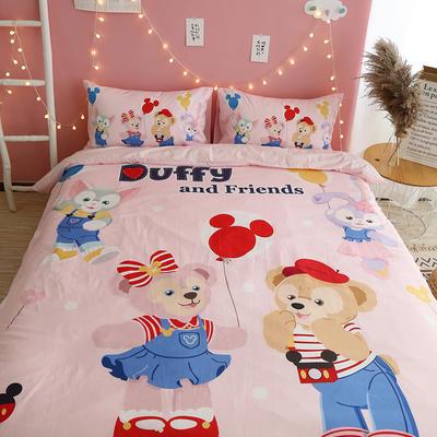 纯棉卡通床上用品全棉宿舍儿童史努比暴富旺仔发财猪芝麻街四件套 1.2m(4英尺)床 duffy