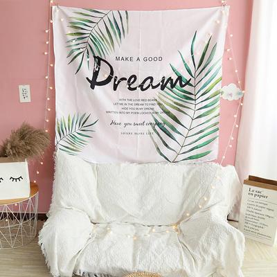 ins抖音背景布挂布卡通可爱美少女装饰画卧室拍照宿舍壁挂毯墙布 130*150 树枝