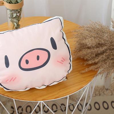 猪猪卡通可爱抱枕靠垫可拆洗枕头靠枕靠背 25*30cm 害羞猪