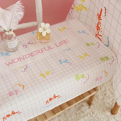 美少女心泫雅风小飞象猪猪卡通可爱桔子亚麻棉麻桌布盖布茶几布 尺寸一:70*70cm 卡路里