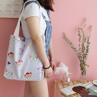 帆布包买菜杂物电脑包手提包美少女心小飞象泫雅风加厚12安双面印花 高度37cm,长度40cm,厚度5cm 达菲熊