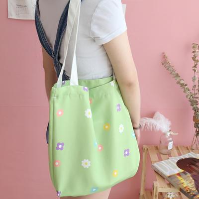 帆布包买菜杂物电脑包手提包美少女心小飞象泫雅风加厚12安双面印花 高度37cm,长度40cm,厚度5cm 泫雅风