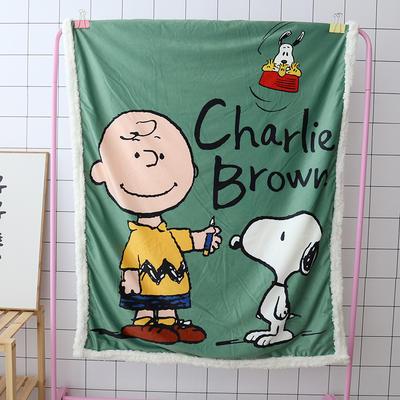 卡通宝宝儿童毛毯羊羔绒面包超人哆啦kitty公主史努比可爱盖毯推车毯 100*140cm 史努比