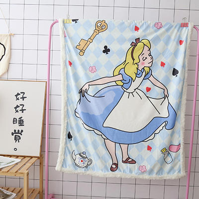 卡通宝宝儿童毛毯羊羔绒面包超人哆啦kitty公主史努比可爱盖毯推车毯 100*140cm 小公主