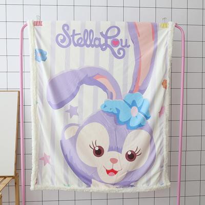 卡通宝宝儿童毛毯羊羔绒面包超人哆啦kitty公主史努比可爱盖毯推车毯 100*140cm 紫色兔叽