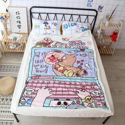 【正版授权设计师合作款】卡通二次元可爱羊羔绒毛毯美少女战士少女心面包超人达菲熊盖毯办公毯沙发毯 150*200cm 面包