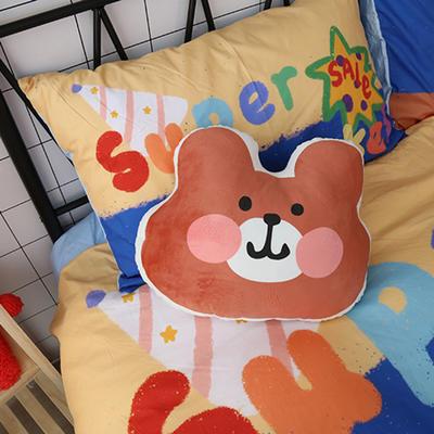 【正版授权联名款】卡通二次元可爱ins玩偶宝宝绒pp棉靠垫抱枕汽车枕头 35*45cm 熊熊