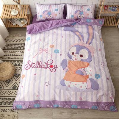 2020新款棉款美少女心卡通可爱星黛露芭蕾兔彩虹小怪兽猫和老鼠史努比爆款宿舍单双人床三四件套 1.2m床单款三件套 可爱兔兔