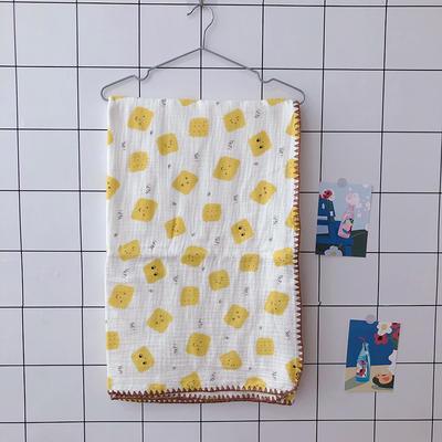 2020新款-出口日本六层纱A类有机纱布儿童盖毯 120*150cm 饼干