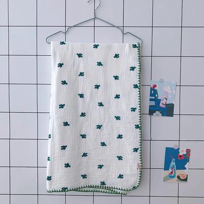 2020新款-出口日本六层纱A类有机纱布儿童盖毯 120*150cm 仙人掌