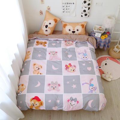 2021棉款美少女战士少女心可卡比熊熊松鼠库洛米卡通可爱软妹四件套宿舍三件套 1.35m宿舍床床单款三件套 熊熊