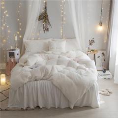 加迪斯秋冬保暖加厚四件套美丽绒 1.2m(4英尺)床 白色