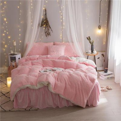 加迪斯秋冬保暖加厚四件套美丽绒 1.5m(5英尺)床 粉色