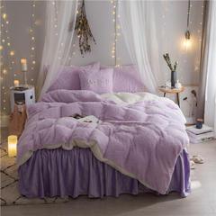 加迪斯秋冬保暖加厚四件套美丽绒 1.2m(4英尺)床 紫色