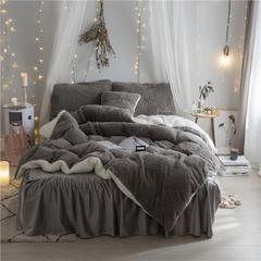 加迪斯秋冬保暖加厚四件套美丽绒 1.2m(4英尺)床 灰色