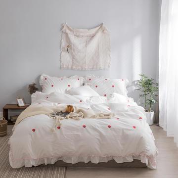 水洗棉系列四件套 仙物·春夏新款-草莓