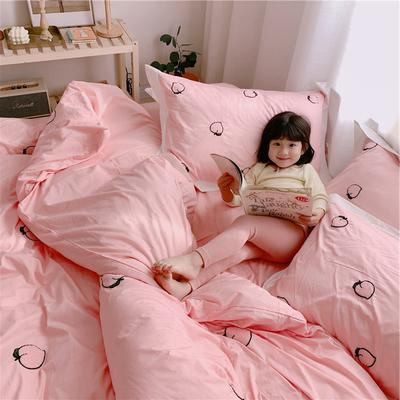 【春夏新款】全棉系列四件套-桔子,桃子 1.2m(4英尺)床三件套 桃子-粉色