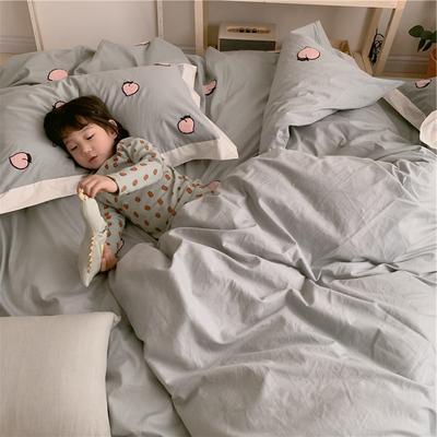【春夏新款】全棉系列四件套-桔子,桃子 1.2m(4英尺)床三件套 桃子-绿色