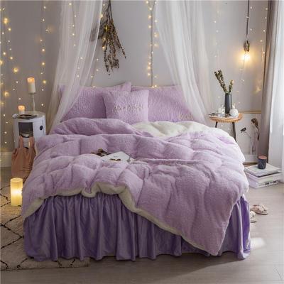 2019新款【韩版美丽绒】软绵绵美丽绒四件套 1.2m床单款三件套 紫色