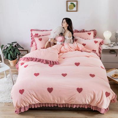 2019新款臻棉绒-心愿系列 抱枕/个(含芯) 心愿粉色
