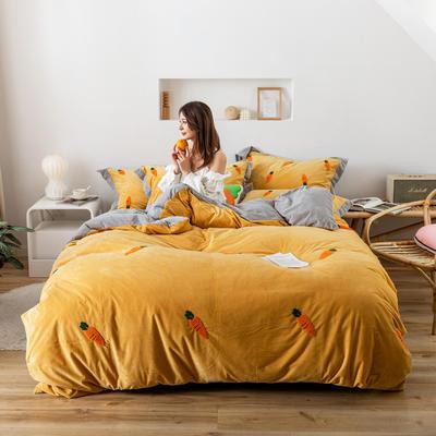 2019新款臻棉绒-橘子,桃子,胡萝卜 抱枕/个(含芯) 胡萝卜黄色