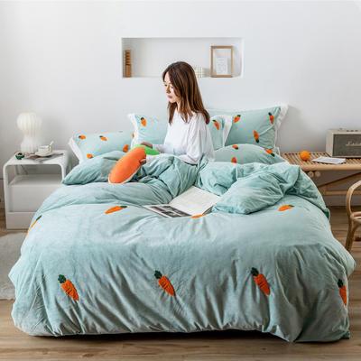 2019新款臻棉绒-橘子,桃子,胡萝卜 抱枕/个(含芯) 胡萝卜绿色