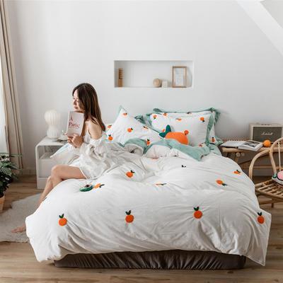 2019新款臻棉绒-橘子,桃子,胡萝卜 抱枕/个(含芯) 橘子白色